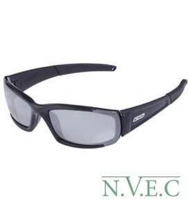 Очки CDI Black Polarised Mirrored Gray (очки с усиленной оправой, затемненные линзы с антибликовым покрытием, цвет черный) 740-0