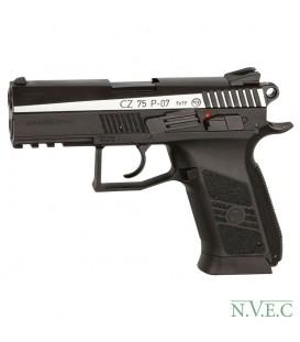 Пистолет пневматический ASG CZ 75 P-07 Blowback! 4,5 мм вставка никель