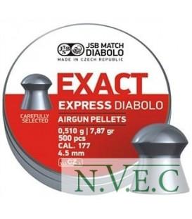 Пули пневматические JSB Diablo Exact Express 4,52 мм 0,510 гр. (500 шт/уп)