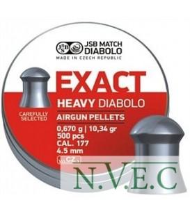 Пули пневматические JSB Diablo Exact Heavy 4,52 мм 0,670 гр. (500 шт/уп)