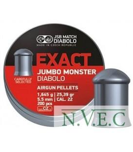 Пули пневматические JSB Exact Jumbo Monster 5,52 мм 1.645 гр. (200 шт/уп)