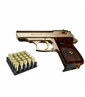 """Пистолет стартартовый EKOL """"LADY"""" 9мм (сатин с позолотой)"""