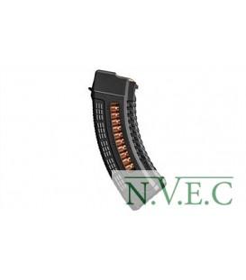 Магазин FAB Defense 7,62х39 полимерный, с окном ц:black