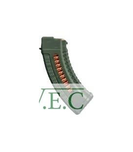 Магазин FAB Defense 7,62х39 полимерный, с окном ц:olive drab