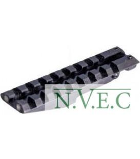 Планка-целик АК 2000 weaver 21 мм короткая на АК, РПК, Сайга, Вепрь