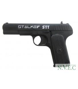 """Пистолет пневматический Stalker STT (аналог """"ТТ"""") к.4,5мм, металл, 120 м/с, черный"""