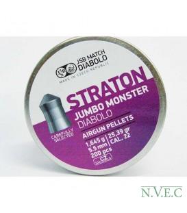 Пули пневматические JSB Diabolo Straton Jumbo Monster кал. 5,5 мм 1,645 г (200 шт./бан.)