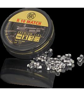 Пули пневматические RWS R10 Match винтовочные кал.4,5 мм 0,53 г (500 шт./бан.)