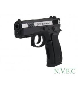 Пистолет пневматический CZ-75 compact , металл., пластик, подвижный затвор