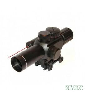 2 в 1 - Прицел оптический + лазерный целеуказатель Vector Optics Wyvern (4x25E, 5mW)