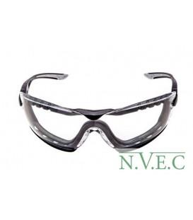 Очки защитные Bolle Cobra с прозрачными линзамии ремешком (COBFTPSI)
