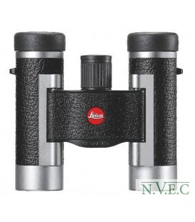 Бинокль Leica SilverLine 8x20 комбинация кожа+серебристый корпус (водонепроницаемый,азотозаполненный)