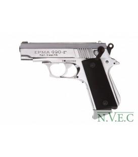 Пистолет газовый Эрма-490Г хром.