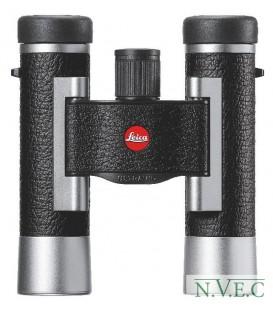 Бинокль Leica SilverLine 10х25комбинация кожа+серебристый корпус (водонепроницаемый,азотозаполненный)