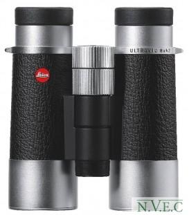 Бинокль Leica SilverLine 8x42 комбинация кожа+серебристый корпус (водонепроницаемый,азотозаполненный)