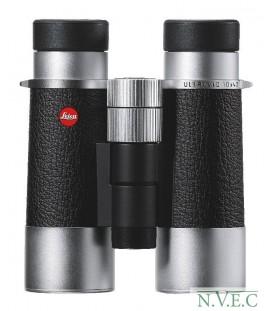 Бинокль Leica SilverLine 10x42 комбинация кожа+серебристый корпус (водонепроницаемый,азотозаполненный)