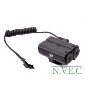 Лазерный целеуказатель NcStar Red Green Laser. планка Weaver APXLRGB