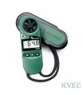 Ветромер Kestrel 2000 + термометр (время,скорость ветра, температуру воды,снега,воздуха,..) 0820