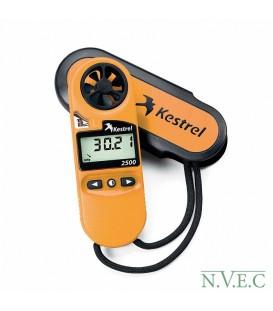 Ветромер Kestrel 2500 (время,скорость ветра,температура воздуха,воды,снега, барометрическое давление,высота над уровнем моря)