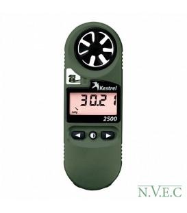 Ветромер Kestrel 2500 NV (время,скорость ветра,температура воздуха,воды,снега, барометрическое давление,высота над уровнем моря)