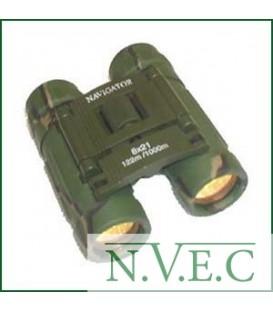 Бинокль Navigator 8х21 зеленый (обрезиненный, компактный)