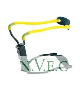 Рогатка Man Kung MK-T1 с упором ц:черный/желтый