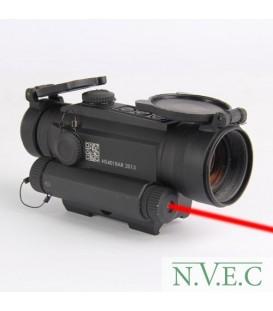 Коллиматорный прицел Holosun INFINITI(HS401R5) на Weaver/Picatinny, быстросъемн.флажковый кронштейн + лазер красный 650 нм., точ