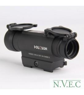 Коллиматорный прицел Holosun INFINITI(HS502C) на Weaver/Picatinny, быстросъемн.флажковый кронштейн + солнечн.батарея, без парала