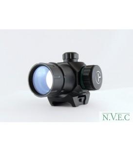 Коллиматорный прицел Target Optic 1х22М закрытого типа на Weaver, зелёная/красная точка
