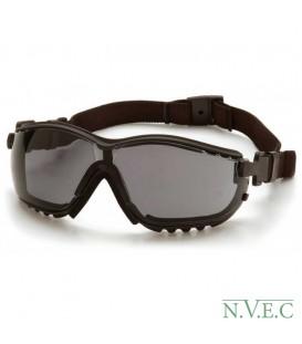 Очки Venture GB 1820ST с темно-серыми ударопрочными поликарбонатными линзами, диоптрические вставки, с защитой от царапин