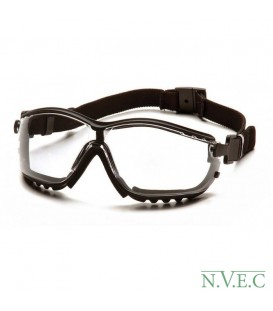 Очки Venture GB 1810ST с прозрачными ударопрочными поликарбонатными линзами, диоптрические вставки, с защитой от царапин