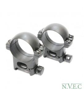 Стойка Weaver -30х27 (пара колец) сталь - средние на 30мм