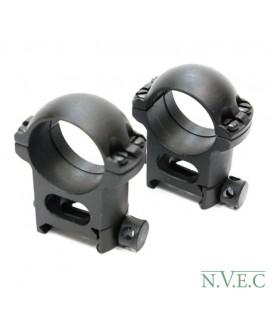 Стойка Weaver -25,4х29 (пара колец) сталь - средние