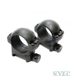Стойка Weaver -25,4х20 (пара колец) сталь - низкие