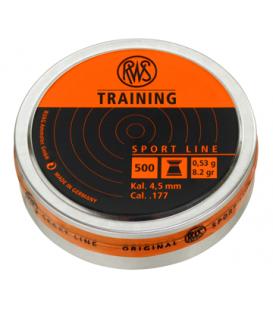Пульки RWS Training 4,5 мм, 0,53 г (500 шт./бан.)