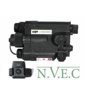 Лазерный целеуказатель СОТ и ИК-осветитель LTAD- DSNC (850 нм,  2-канальный, инфракрасный спектр  ИК-осветитель-25 мВт, быстросъ