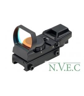 Коллиматорный прицел Target Optic 1х33 открытого типа на Weaver