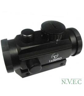 Коллиматорный прицел Target Optic 1х30 закрытого типа на Weaver, подсветка точка