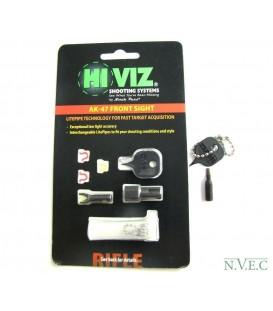 Мушка HiViz для АК (сайга, тигр, вепрь), в комплекте 2 зелёных и 2 красных оптоволокна