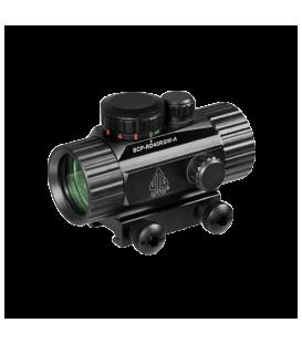 Коллиматорный прицел LEAPERS UTG New Gen 1x30 закрытый на Weaver, подсветка точка зелёная/красная