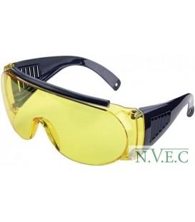 Очки стрелковые Allen  защитные, жёлтые (одеваются поверх обычных очков)