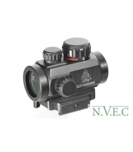 Тактический коллиматор Leapers  1x21 micro, 2-х цв.подсветка -точка, быстросъемное крепление на Weaver (SCP-DS3026W)