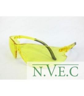 """Очки стрелковые """"Stalker"""" защитные, цвет - желтые, материал - поликарбонат, светопропускаемость 85%, блистер"""